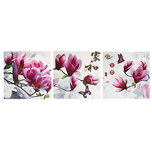 ChaRLes 30X30 Cm 3 Stücke Panel Gerahmte Blume Leinwand Wandkunst Wohnkultur Moderne Gemälde Drucken Bild - Iii Gerahmt Leinwand
