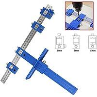 Guía de taladros, funda PUAO armario Hardware Jig cajón tirador Jig Punch Locator madera taladrar agujero sierra sistema maestro, azul