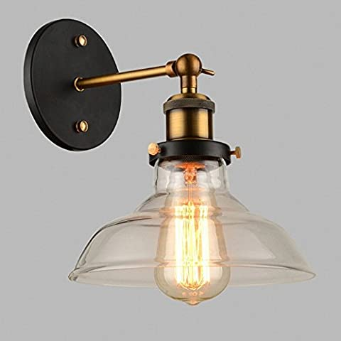 Frideko 2 Pack of Vintage Industrial Torch Glass Lampshade Wall