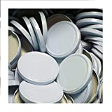 25 Stück X to 89 mm Weiß Schraubdeckel für Gläser • Twist Off Deckel Verschluss Ø 89mm • Ersatzdeckel To89 • 25,50,100,150,200,250,500 Stück • Große Auswahl Verschiedene Größen und Farben