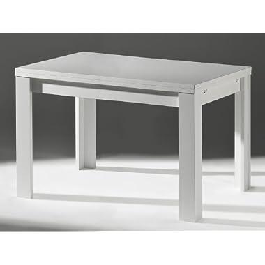 Küchentisch Esstisch Ausziehtisch ZIP Weiß matt 110x60cm Sale