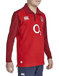 2015-2016 England Alternate Classic LS Rugby Shirt (Kids)