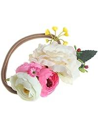 VIccoo Diadema de Flores para niñas, Hecha a Mano, para fotografía ...