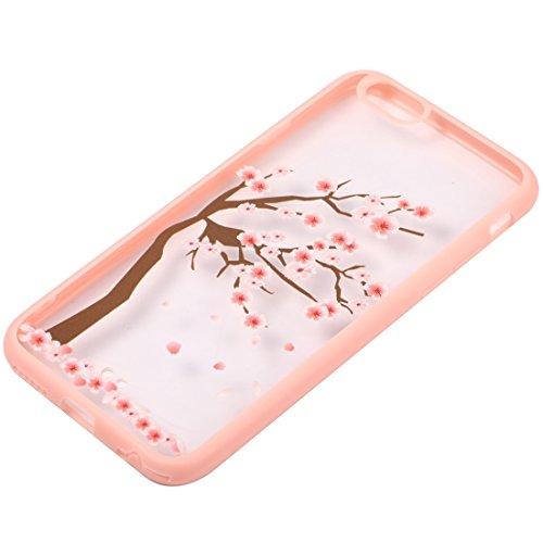 Wkae Case Cover Für iPhone 6 Plus &6s Plus-Kirschblüten-Blumen-Muster Transparente Kunststoff-Schutzhülle ( SKU : IP6P0968C ) IP6P0968F