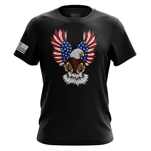 American Eagle Herren T-Shirt Home of The Brave, Schwarz - XX-Large -