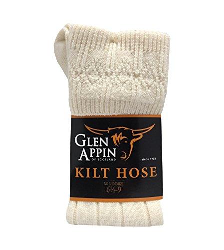 Luxuriöse, schottische Kilt-Schlauch-Socken aus Wolle - Wolle Kilt