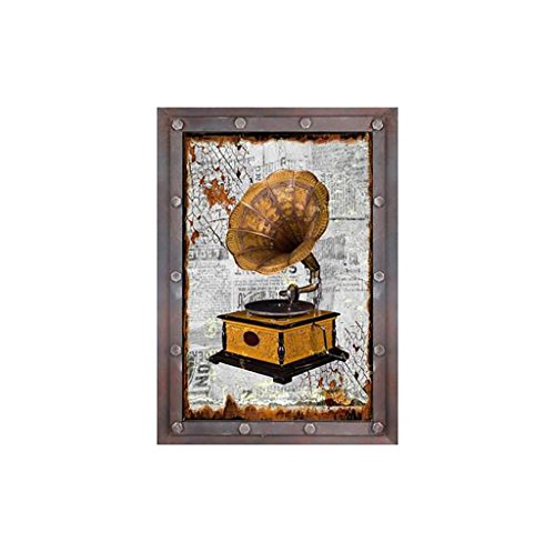 JZX Wanddekoration, Wandablage Regal, Wohnmöbel Wand D Eacute; Cor Industrial Wind Retro Vintage Recorder, Haushalt Wandregal,2# (Geist Recorder)