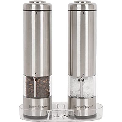 Latent Epicure Battery Operated Salt and Pepper Grinder by Latent Epicure