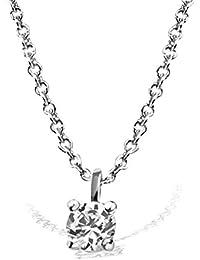Goldmaid–Pa Chaîne avec pendentif Solitaire Jana Collier solitaire Jana 0,05ct. 585or blanc diamant 0,05ct blanc taille brillant 45cm–So c7542wg