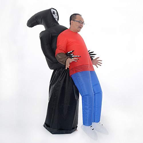 ene Aufblasbare Fahrt Auf Kostüm Gebläse Parodie Aufblasbare Kostüm Todesopfer Luft Inflation Anzug Geeignet Für Halloween Lustige Show Cosplay Tod Aufblasbare Anzug ()