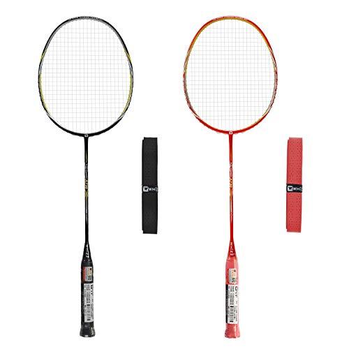 Whizz Profi Nano Graphit Badmintonschläger 80g 26lbs (Schwarz/Rot)