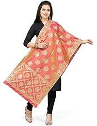Rani Saahiba Art Silk Zari Woven Dupatta/Stole
