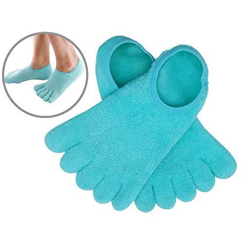 5-Toe Moisturizing Cracked Heel Socks - Verwöhnen Sie Ihre trockenen Füße schnell. Schmerzlinderung durch rissige Fußhaut mit diesen mit Gel angereicherten Feuchtigkeitscreme- für Frauen und Männer -