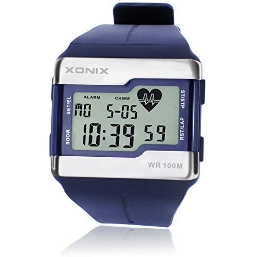 LE Armbanduhren Männer-/Sport-Uhr, Kalorien-Test-Impuls-Herzfrequenz-Test Luminous No Chest mit Herzfrequenz-Wasserdichte elektronische Uhr