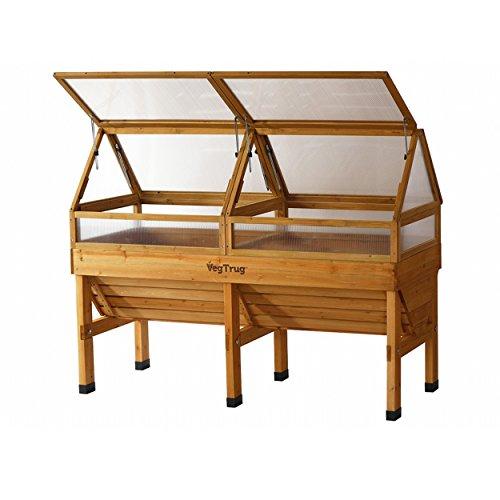 Praktisches Hochbeet Medium Frühbeetaufsatz von VEGTRUG, aus hochwertigem FSC-Zedernholz, ca. 184 x 80 x 66 cm, Gemüsebeet Pflanzenschutz, Erweiterung, Pflegeleicht, stabil,
