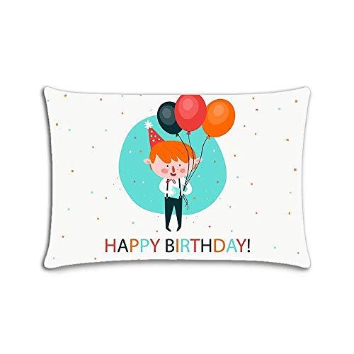 Custom Home Decor Throw Pillowcase Happy Birthda Pillow Cover Twin Sides