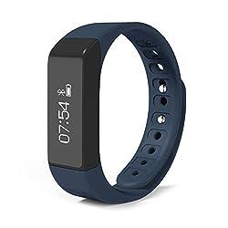 doupi Sport Smart Armband Aktivitätstracker (Blau) Touch Screen Bluetooth Armbanduhr Schrittzähler Armuhr mit Handgelenkerkennung für iOS und Android Sportuhr Smart Watch Fitness Tracker