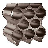 koziol Flaschenregal Set-Up, Kunststoff, Braun, 23 x 35.3 x 36.4 cm