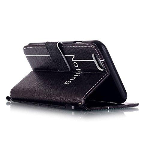 CareyNoce PU Leder Wallet Case Folio Schutztasche für iPhone 6/6S Plus (5,5 Zoll) Tasche Hülle Handytasche Etui Schale Backcover Flip Cover im Bookstyle mit Standfunktion Kredit Kartenfächer (Haustier M05