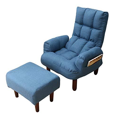 WJFCDYZS Polsterung Stoff Sofa Sessel Wohnzimmer Möbel Folding Recliner Reclining Rücken Arm Accent Stuhl mit Holzbeinen -