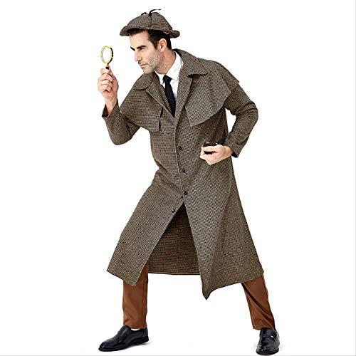 HG-amaon Halloween Rolle Großer Detektiv Sherlock Holmes spielt, Englands Rollkragenpullover - Sherlock Holmes Kostüm Frauen
