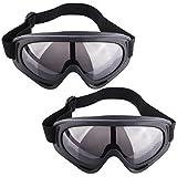 Lommer Schutzbrillen für Nerf, 2 Stück Schutzbrillen Zum Schutz der Augen Schutzbrille Goggles Gläser Glasses für Nerf, CS, Paintball Spiele (Grau)