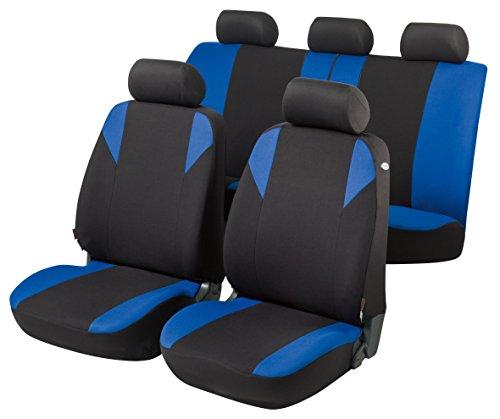 RMG R12V181 coprisedili compatibili per L200 fodere auto R12 neri blu per sedili con airbag braciolo e sedili sdoppiabili