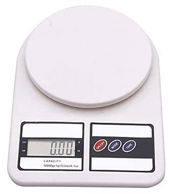 Generic Electronic Kitchen Digital Weighing Scale, Multipurpose (White, 10 Kg)