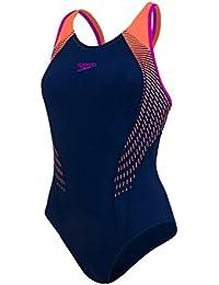 Speedo Womens Fit Laneback Swimsuit