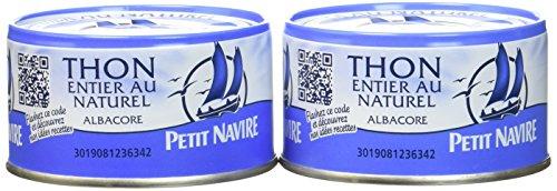 Petit Navire Thon Naturel 2 Boîtes de 132g - Lot de 4