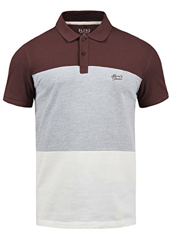 Blend Lauran Herren Poloshirt Polohemd T-Shirt Shirt mit Polokragen 100% Baumwolle, Größe:M, Farbe:Wine Red (73812)