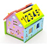 SXZHSM-Juguete de Desarrollo Intelectual Casa Digital para Niños De 0-3 Años De Edad, Juguetes Educativos para Bebés, Juguetes Educativos para Niños, 19.5x17x115.5cm