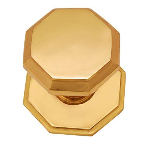 Adonai Hardware Emmanuel Brass Door Knob with Rose (Polish Lacquered) -