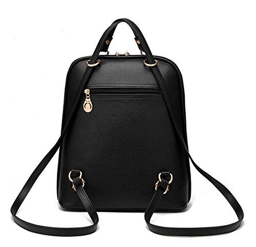 9e2d9cefe0274 Keshi Pu Niedlich Damen accessories hohe Qualität Einfache Tasche  Schultertasche Freizeitrucksack Tasche Rucksäcke Schwarz ...