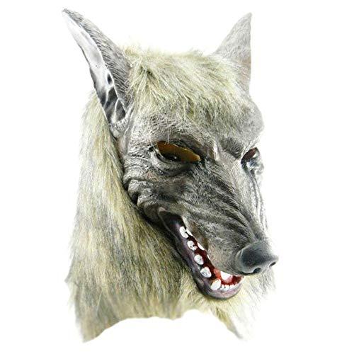 Wolf Hood Kostüm - Sunsline Halloween Maske Vollgesichts Wolf Kopf Cosplay Tier Kostüm Party Requisiten Hood Cover