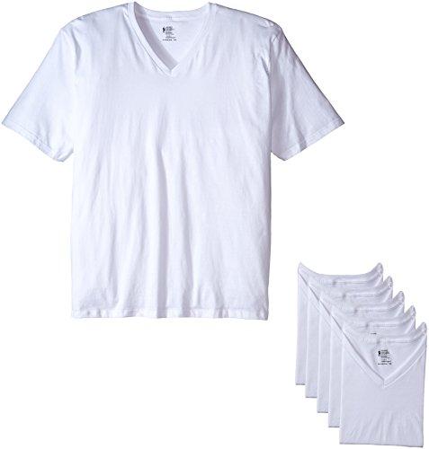 Greucy-darkJockey Men's T-Shirts Big & Tall Classic V-neck T-Shirt - 6 Pack, 0Heather Grey, XXL Big & Amp