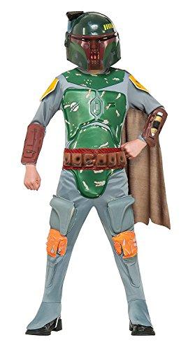 Star Wars Deluxe Kinder Kostüm Boba Fett Größe M 5 bis 7 Jahre ()