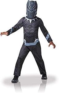 Rubies-Disfraz de «Black Panther», tallaS, para niño, I-640907S