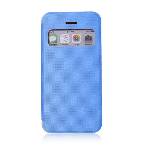 Flip Slim avant Case Clear View Leahter Frosted Pour iPhone 5C Orange