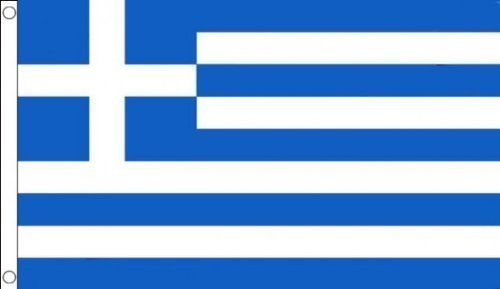 1.52 x meters 0.91 meters (150 cm x 90 cm) und griechische Material 100% Polyester Fahne Flagge Banner, Ideal für Pub, Club, Schulfest Business PartyDekoration Picture