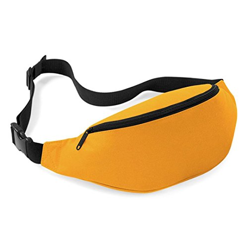 Bolsos de Hombro,✦JiaMeng Bolsa Unisex de Viaje Handy Hiking Sport Fanny Pack Cintura cinturón Zip Bolsa (Amarillo)