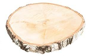 NaDeco® Birkenscheibe Ø20-30cm | Holzscheibe | große Baumscheiben | Große Birkenscheibe | Birkenstamm Scheiben | Birkenholz Deko | Holzscheibe zur Dekoration