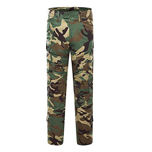 Pantalones de Airsoft, QMFIVE Pantalones de Combate de Camuflaje Camo Combat BDU...