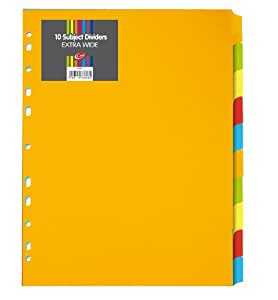 a4 extra wide subject dividers 10 part amazon co uk office products
