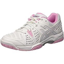 Asics Gel-Dedicate 4W, Zapatillas de Tenis Mujer, Multicolor (White/Cotton Candy/Plum), 40.5 EU