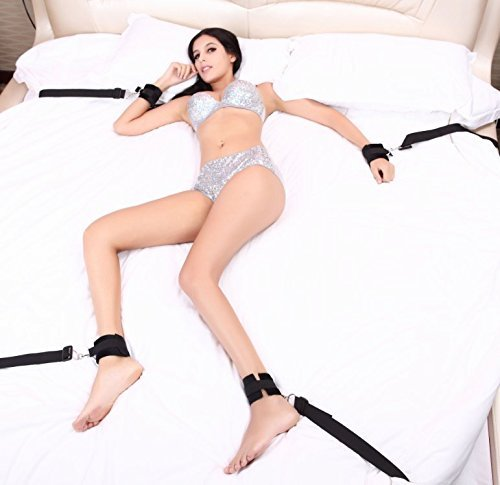 Dulexo BDSM Sex Bondage mit Seile Handschellen Fußfesseln Bett Sets