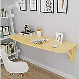 Tavolo pieghevole da parete, tavolo da studio portatile in pino, scrivania da computer, tavolo pieghevole per cucina e tavolo da pranzo, scrivania da ufficio