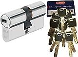 Abus XP20S Double cylindre Longueur (a/b) 35/50 mm (C = 85 mm) avec carte de sécurité et 10 clés avec clip de conception, fonction d'urgence et danger et protection de perçage SKG