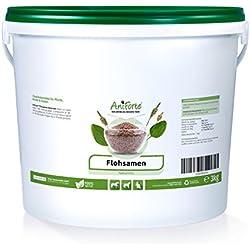 AniForte Flohsamen Ganz 3 kg für Pferde, Hunde und Katzen, Reich an Ballaststoffen und Schleimstoffen, Indische Rohkost Qualität, Sparpack