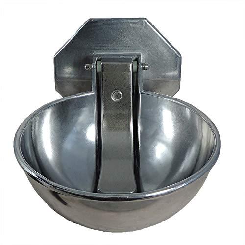 Eider Anbau Tränkebecken Wasserfässer - mit Druckzunge - für Pferde & Rinder - aus korrosionsfestem Aluminium-Spezialguss
